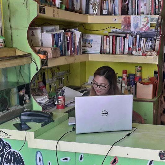 Radhika at work